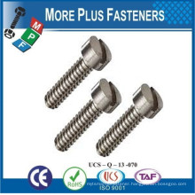 Made in Taiwan Fillister Head Slotted Machine Screw