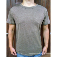 Cotton Blend Wholesale Cheap High Quality Custom Plain Men′s T Shirt