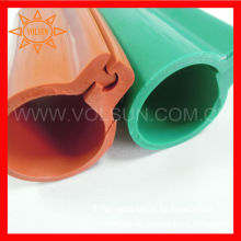 Línea aérea roja / verde / amarilla de goma del silicón con aislamiento mangas