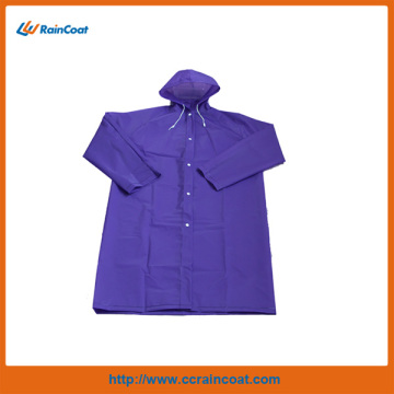 Purple eva adult long raincoats