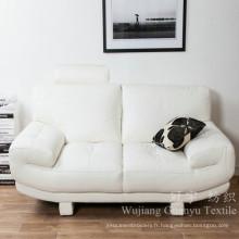Tissu de daim d'imitation en cuir de polyester pour le textile à la maison