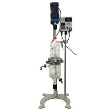 Hot Selling Small Laboratory Equipment 500ml jacket glass reactor use in laboratory