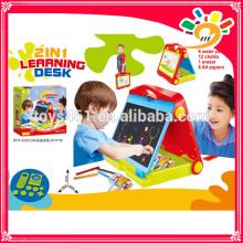 Plastikstudie Schreibtisch für Kinder, 2 in 1 Baby Lerntisch
