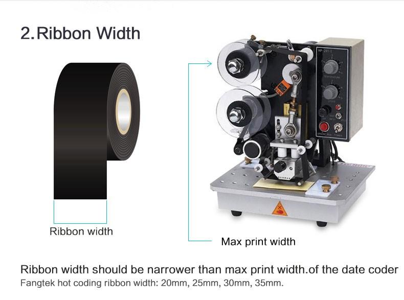 Date printing hot stamping foil black coding ribbons