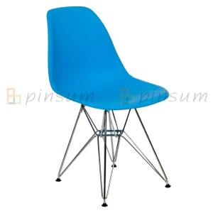 Armless Eames Chair with Chromed Legs