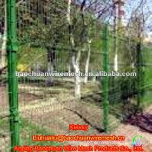 1.8 * 3m grüne dreieckige Biege Draht Mesh Zaun (Manufaktur)