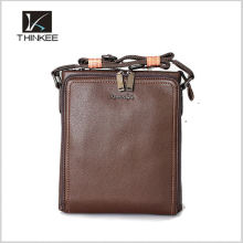Drop ship high quality small cow leather men handbag for sale