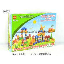 Nouvelle Boîte à Jouets Puzzle House Letter ou Number Building