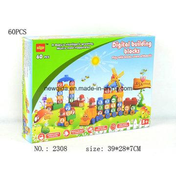 New Puzzle House Letter ou caixa de brinquedos do edifício do número