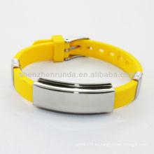 2014 pulseras de silicona de energía de los hombres amarillos