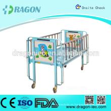 DW-CB01 cama de hospital de calidad de venta caliente para niños con ruedas