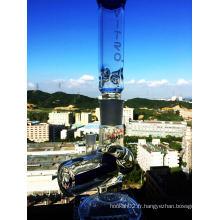 2016 Vente en gros de tubes à eau anti-fumée à perchloré en verre Perc avec prix d'usine