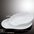Placas de rectángulo de porcelana de cerámica blanca al por mayor superventas
