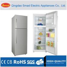 Uso doméstico de la puerta doble arriba refrigerador de la nevera del fondo del congelador