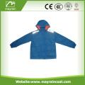 190T Polyester PVC Coated Kids Rainsuit