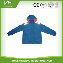190T poliéster PVC Coated Kids Rainsuit