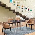 Mesa de jantar e mesa de jantar em madeira de 4 lugares para sala de estar (SP-CT633)