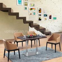 Mesa de comedor y silla de madera de 4 plazas (SP-CT633)
