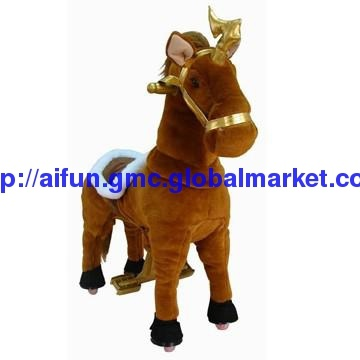 U & Me Brown Knight toy with golden rein, The kawasaki riding toy