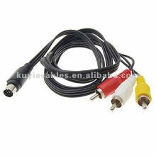 7 Pin S-Video a 3 RCA RGB Cable adaptador para TV PC DVD