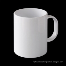 11oz plastic white sublimation mug for promotion and gifts