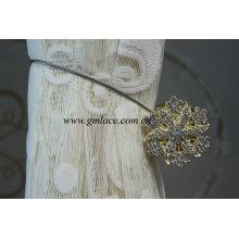 Amarillo Metal magnético clip hebilla con cuentas de acrílico para cortina Mouquito Net Tent