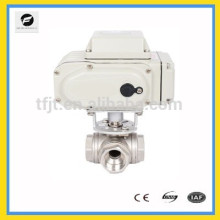 AC220V CTB-series 2-way and 3way Electric Ball Valve for food, environmental protection, light industry, petroleum, paper system