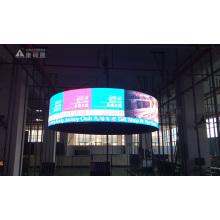 Pantalla de visualización LED de cilindro interior