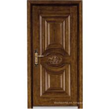 Puerta acorazada de madera de acero del estilo turco (LTK-A037)