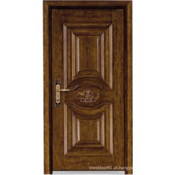 Porta blindada de madeira de aço estilo turco (LTK-A037)
