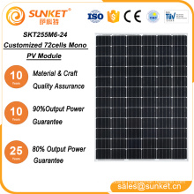 Factory hot sales 255w solar panel wholesale china supplier About