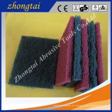 Material abrasivo da almofada de limpeza do carboneto de silicone Eco-Amigável / óxido de alumínio