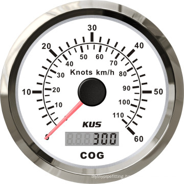 85mm GPS Speedometer 60L with Backlight White Faceplate