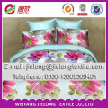 bed sheet fabric 40-150gsm flower printed 3D polyester