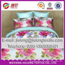 tela de la sábana 40-150gsm flor impresa poliéster 3D