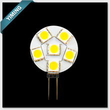 Round 1.2W 6pcs 5050SMD G4 LED Light 60-80LM