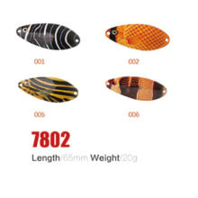 Maravilhoso 65mm 20g iscas de colher de pesca