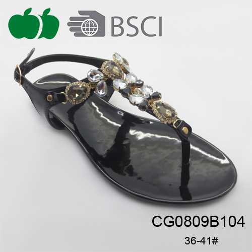 fashion flat ladies tpr sandals