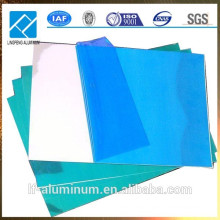 Hoja de aluminio con película de PVC revestida