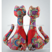 Valentine Gift Printed Fabric Couple Cats Plush Toy for Wedding