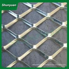 Fabricação preço diamante alumínio esticado malha metálica 50x100mm para decoração / cortina de parede / casa-teto