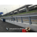 Galvanized steel fence pole for highway