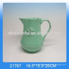 Jarra de leche de cerámica vidriada de alta calidad