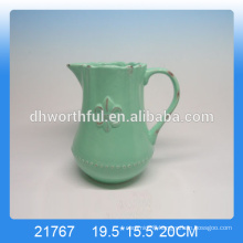 High quality glazed ceramic milk jug pitcher