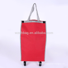 Wheeled Custom Wholesale Polyester Shopping Cart Trolley Bag For Promotion And Travel