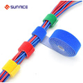 Adjustable Multicolor Nylon Hook and Loop Cable Straps