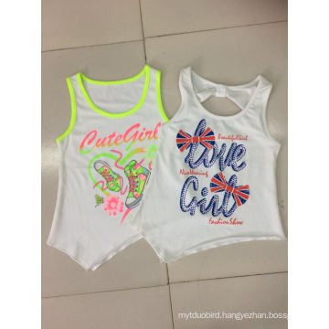 2016 Fashion Kids Clothes in Girl Sleeveless T-Shirt for Summer (SV-017-019)