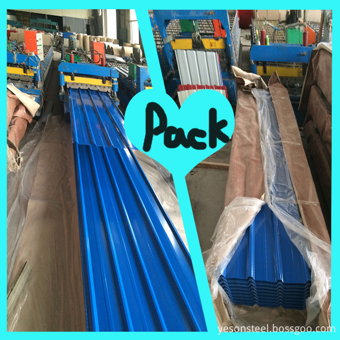 roofing sheet packing