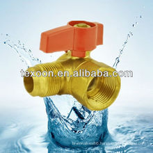 standard port brass turn gas ball valve with Flare*FIP ends