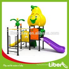 cheap preschool outdoor playground plastic slide for children LE.SG.022